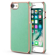 iPhone 7/6/6s Case, by BasAcc Mint Green/Rose Gold Frame Rear Leather Hard Back Case for Apple iPhone 7 / 6 / 6s