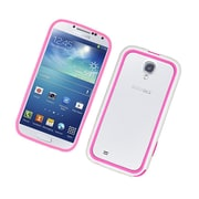 Insten Gel Bumper Case For Samsung Galaxy S4 - Hot Pink/White