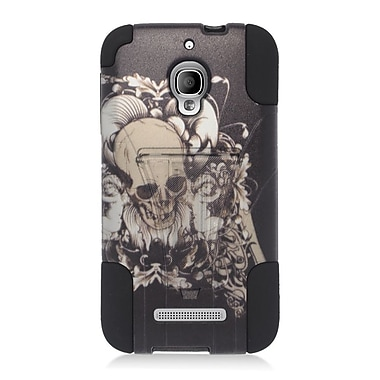 Insten Skull with Angel Hard Hybrid Plastic Silicone Case For Alcatel One Touch Fierce - Black/White