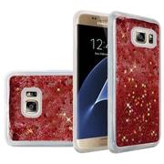 Insten Liquid Quicksand Glitter Fused Flexible Hybrid TPU Cover Case For Samsung Galaxy S7 Edge - Rose Pink