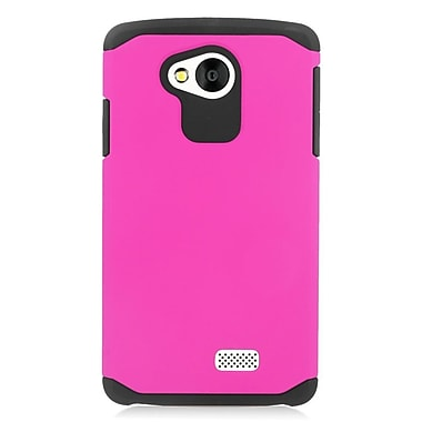 Insten Hard Hybrid Silicone Case For LG Tribute - Hot Pink