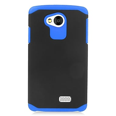 Insten Hard Dual Layer Rubberized Silicone Case For LG Tribute - Blue/Black