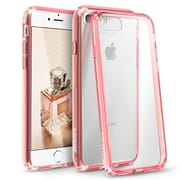 iPhone 7 Case, by BasAcc Clear Crystal Hard Case Cover with Pink TPU Bumper For Apple iPhone 7