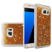 Insten Liquid Quicksand Glitter Fused Flexible Hybrid TPU Cover Case For Samsung Galaxy S7 - Gold