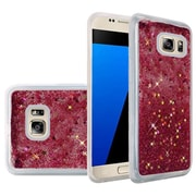 Insten Liquid Quicksand Glitter Fused Flexible Hybrid TPU Cover Case For Samsung Galaxy S7 - Hot Pink