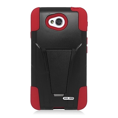 Insten Hard Hybrid Plastic 2-Layer Case For LG Optimus Exceed 2 VS450PP Verizon/Optimus L70/Realm - Red