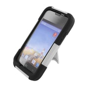 Insten Hard Hybrid Plastic Silicone Case with stand for Huawei Prism II U8686 - White/Black
