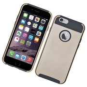 Insten Hard Dual Layer Rubber Silicone Cover Case for iPhone 6 / 6s - Gold/Gray