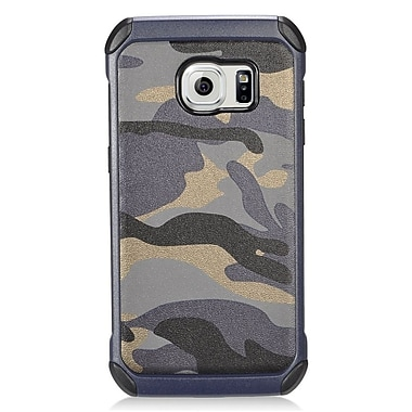 Insten Camouflage Hard Dual Layer Hybrid Case For Samsung Galaxy S7 - Gray/Black