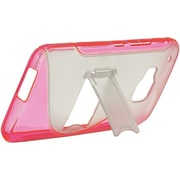 Insten Hard TPU Case w/stand For HTC One M9 - Clear/Hot Pink