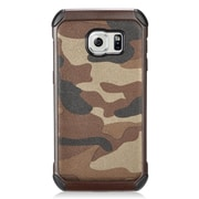 Insten Camouflage Hard Dual Layer Silicone Case For Samsung Galaxy S7 - Brown/Black