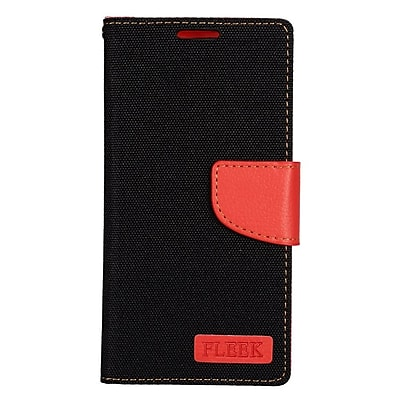 Insten Leather Wallet Cover Case with Card slot & Photo Display For Samsung Galaxy S7 - Black/Red