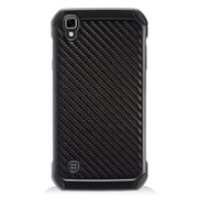 Insten Dual Layer Hybrid Rubberized Hard Silicone Shockproof Case Cover For LG Tribute HD / X STYLE - Black Carbon Fiber