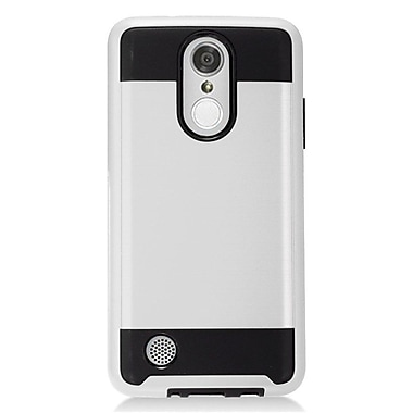 Insten Hybrid Dual Layer Brushed Metal Hard TPU Shockproof Case Cover For LG Aristo - Silver/Black