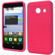 Insten Rugged Soft Rubber Case For Huawei Pronto/SnapTo - Hot Pink