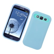 Insten Two-Tone/NightGlow Jelly Hybrid Hard Silicone Case Cover For Samsung Galaxy S3 - Blue