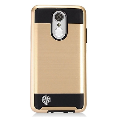 Insten Hybrid Dual Layer Brushed Metal Hard TPU Shockproof Case Cover For LG Aristo - Gold/Black