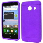 Insten Rugged Silicone Rubber Cover Case For Huawei Pronto/SnapTo - Purple