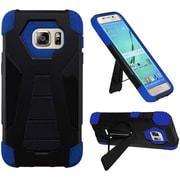 Insten Hard Hybrid Plastic Silicone Case w/stand For Samsung Galaxy S7 Edge - Black/Blue