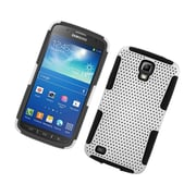 Insten TPU Rubber Hard PC Candy Skin Mesh Case Cover For Samsung Galaxy S4 Active - White/Black