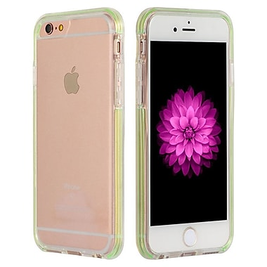 Insten Hard Hybrid Crystal TPU Case for Apple iPhone 6s Plus / 6 Plus - Clear/Gray