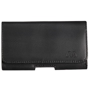 Insten High Quality Horizontal Carry Pouch Black / Gray Wavy Design