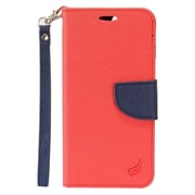 "Insten Flip Leather Fabric Cover Stand Card Case Lanyard w/Photo Display For Apple iPhone 7 Plus (5.5"") - Red/Black"