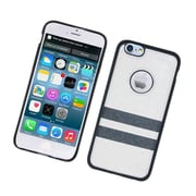 Insten Leather Fabric TPU Case For Apple iPhone 6 / 6s - White/Black