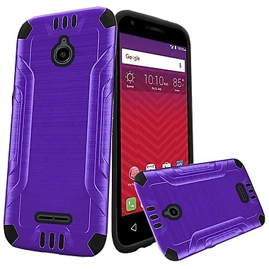 Insten Hard Dual Layer Silicone Cover Case For Alcatel Acquire / Dawn / Streek - Black/Purple