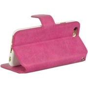 Insten Vintage Leather Pouch Stand TPU Rubber Skin Case For Apple iPhone 6 / 6s - Hot Pink