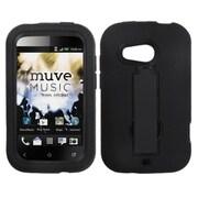 Insten Symbiosis Rubber Hybrid Hard Case w/stand For HTC Desire C - Black