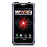 Insten Hard Crystal Rubber Skin Protective Shell Case For Motorola Droid Razr Maxx - Purple