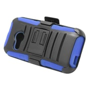 Insten Stand Dual Layer Hybrid Case with Holster For HTC One M8 Mini - Black/Blue