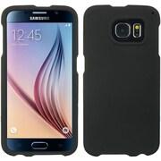 Insten Hard Crystal Rubber Skin Back Clip On Case For Samsung Galaxy S6 - Black