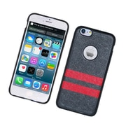 Insten Leather Fabric TPU Cover Case For Apple iPhone 6 / 6s - Black/Red