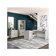 """kathy ireland® Home by Bush Furniture Cottage Grove 60"""" L-Shaped Desk with Storage, Cottage White (CGR005CWH)"""