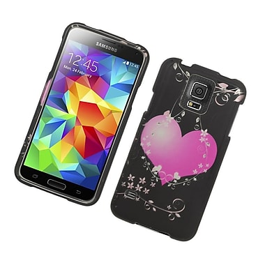 Insten Hearts Hard Case Cover For Samsung Galaxy S5 - Black/Pink