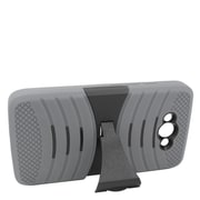 Insten Wave Symbiosis Skin Hybrid Rubber Hard Cover Case Stand for Motorola Droid Turbo - Gray/Black
