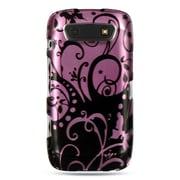 Insten Hard Rubberized Case For BlackBerry Torch 9850/9860 - Purple/Black