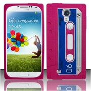 Insten Cassette Tape Gel 3D Rubber Case For Samsung Galaxy S4/S4 (LTE version) - Pink