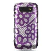 Insten Hard Rubber Coated Case For BlackBerry Torch 9850/9860 - Purple/White