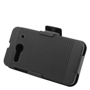 Insten Hard Rubber Case with Holster for Alcatel One Touch Evolve 2 - Black