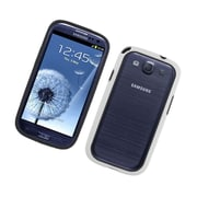 Insten TPU Bumper Case For Samsung Galaxy S3 - Black/White