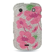 Insten Hard Bling Case For BlackBerry Bold Touch 9900/9930 - Silver/Pink