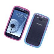 Insten Gel Bumper Case For Samsung Galaxy S3 - Hot Pink/Blue