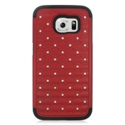 Insten Hard Dual Layer Silicone Case For Samsung Galaxy S6 - Red/Black