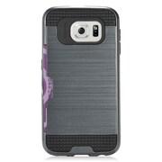 Insten Hard Hybrid Case with card slot holder For Samsung Galaxy S7 - Blue/Black