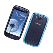 Insten Gel Bumper Case For Samsung Galaxy S3 - Black/Blue