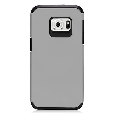 Insten Hard Hybrid Silicone Cover Case For Samsung Galaxy S7 - Gray/Black