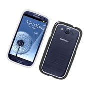 Insten Rubber Bumper Case For Samsung Galaxy S3 - White/Black